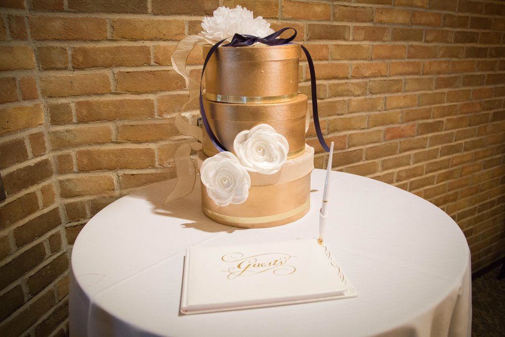 Beautiful D.I.Y. Card Box, created by the bride.