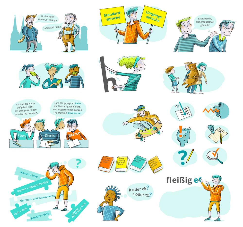 Design For Scholastic Materials Christiane Grauert Illustration