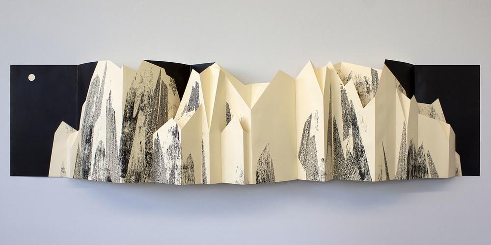 """Folding Mountain"", wall-mounted"