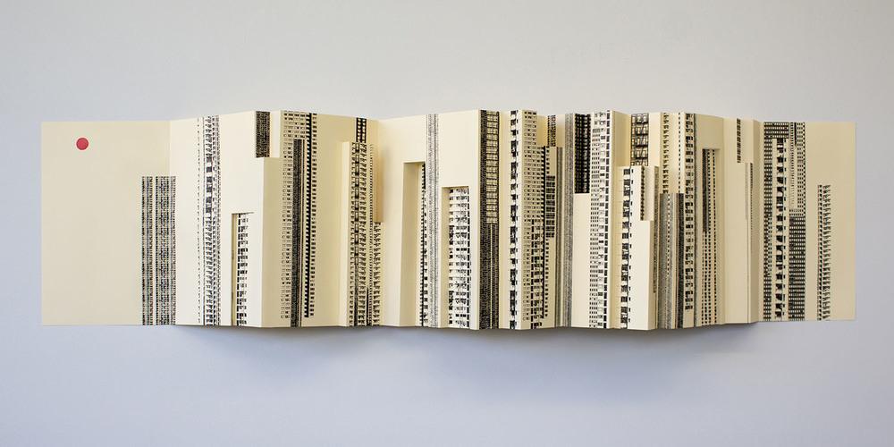 """""""Folding City"""", wall-mounted"""