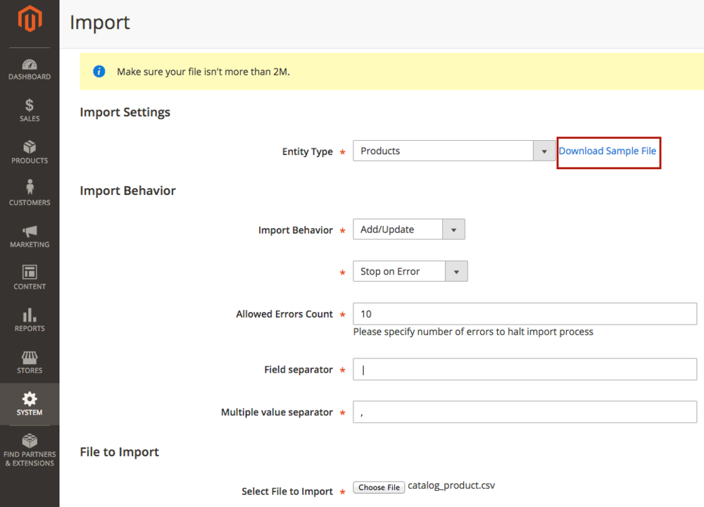 A Guide On How To Import And Export Products In Magento 2 Alex Corradi