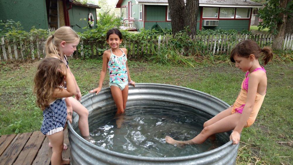 Keep the kiddie pool water clean.
