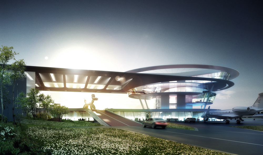 Confidential Airport, Europe. Grimshaw Architects.