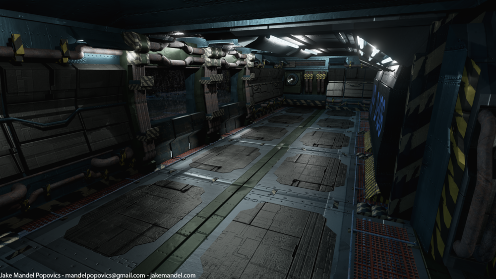 Space station Interior modular kit. Rendered in Unreal Engine 4. Mod kit uses 8 pieces.