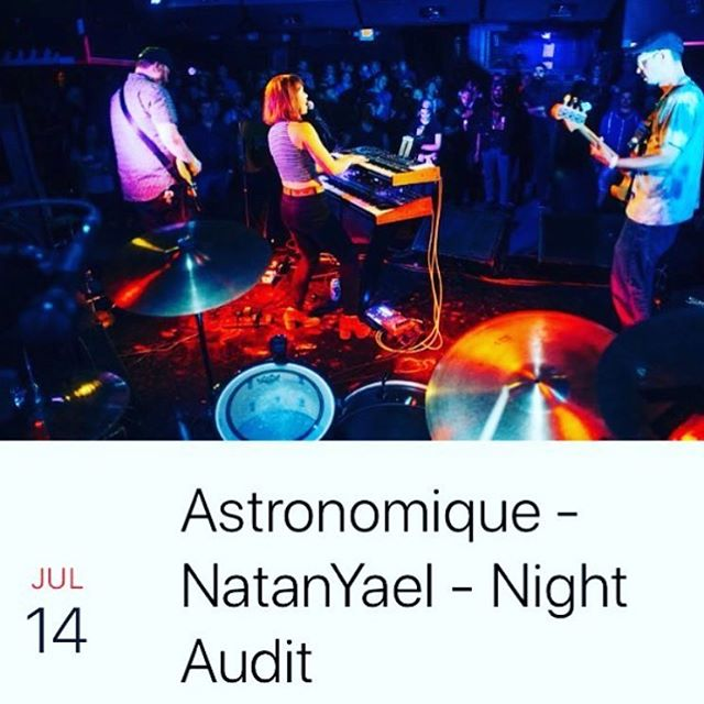 Show on Saturday at @331_club w/ Night Audit and @natanyaelmusic Music at 10. FREE