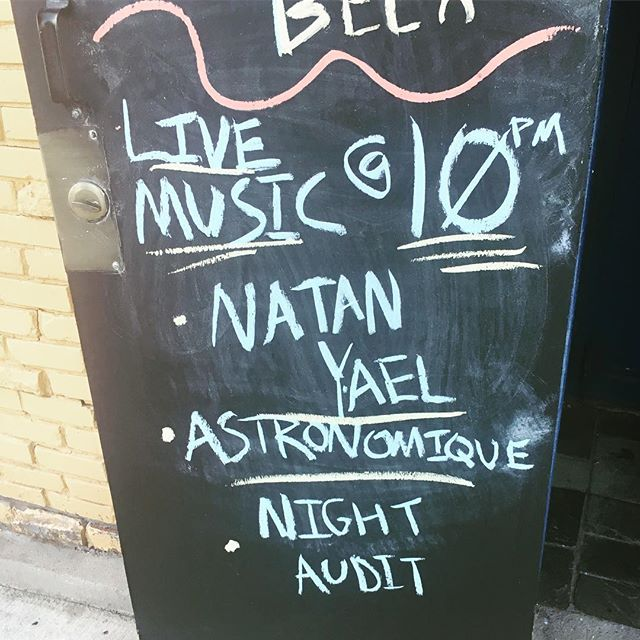 Tonight at the @331_club @astronomiques @natanyaelmusic and Night Audit. Music starts at 10 pm. No cover! 21+
