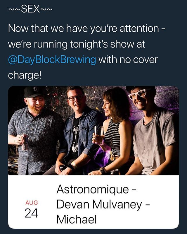 Stop by @dayblockbrewing tonight!