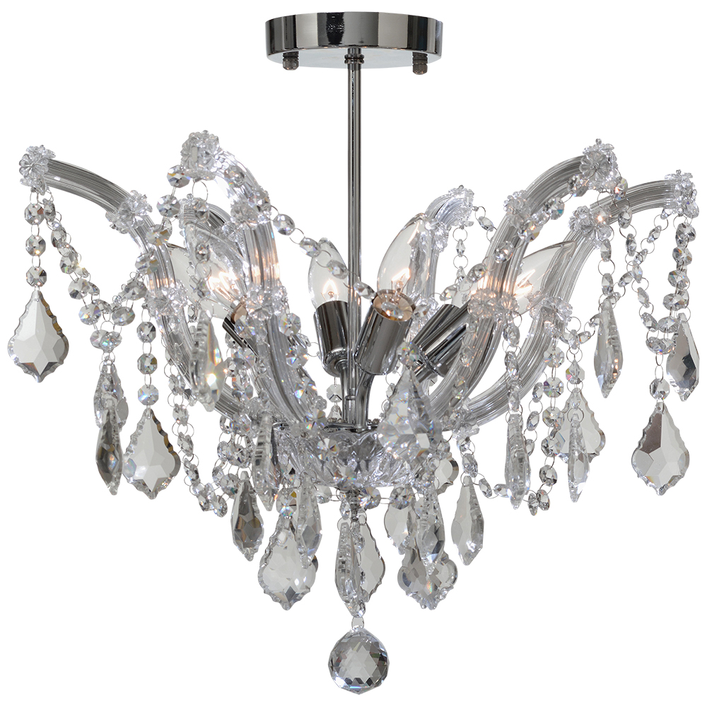 105705 | VENETIAN 6 LT SEMI FLUSH MOUNT