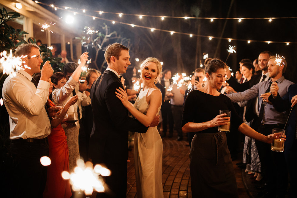 First Dance Sparklers Byron Bay