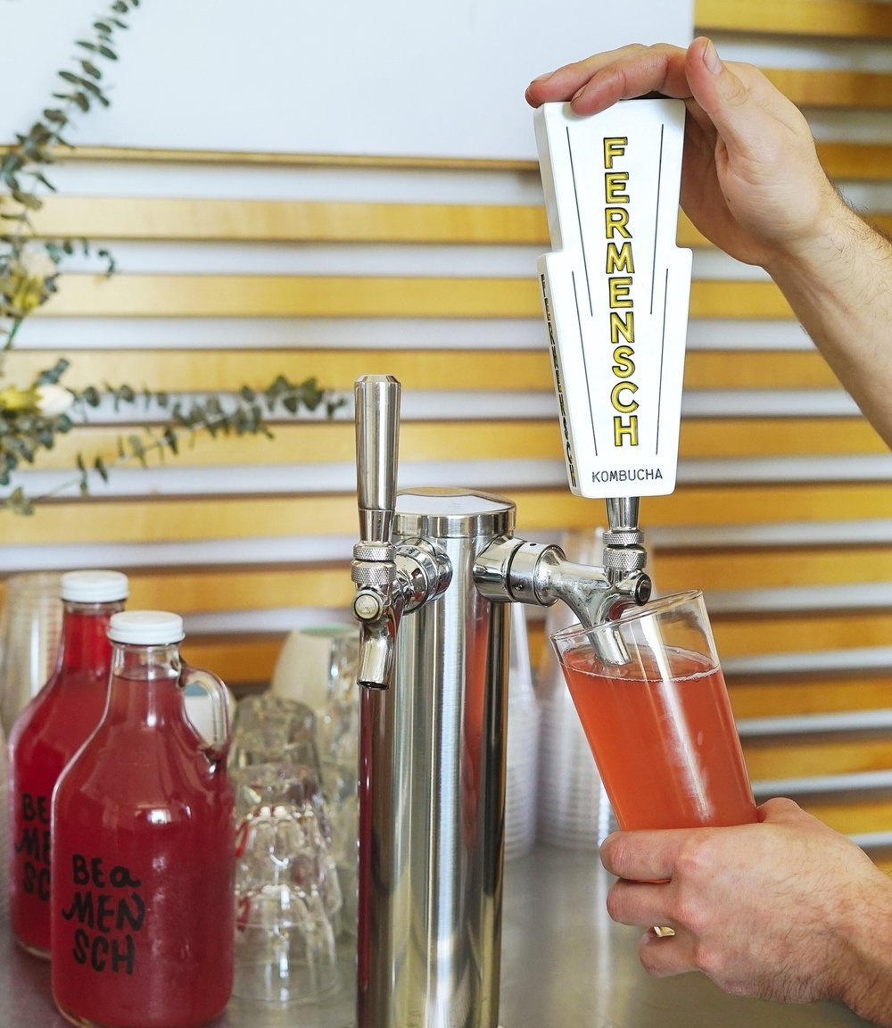 Kombucha on tap - Fermensch is a fresh, bubbly kombucha served exclusively on tap in Southern California restaurants, breweries, and coffee shops. Because of our unique kegging system, we can provide a refreshing and balanced kombucha that is perfectly bubbly for drinking on its own or mixing into cocktails and spritzers.