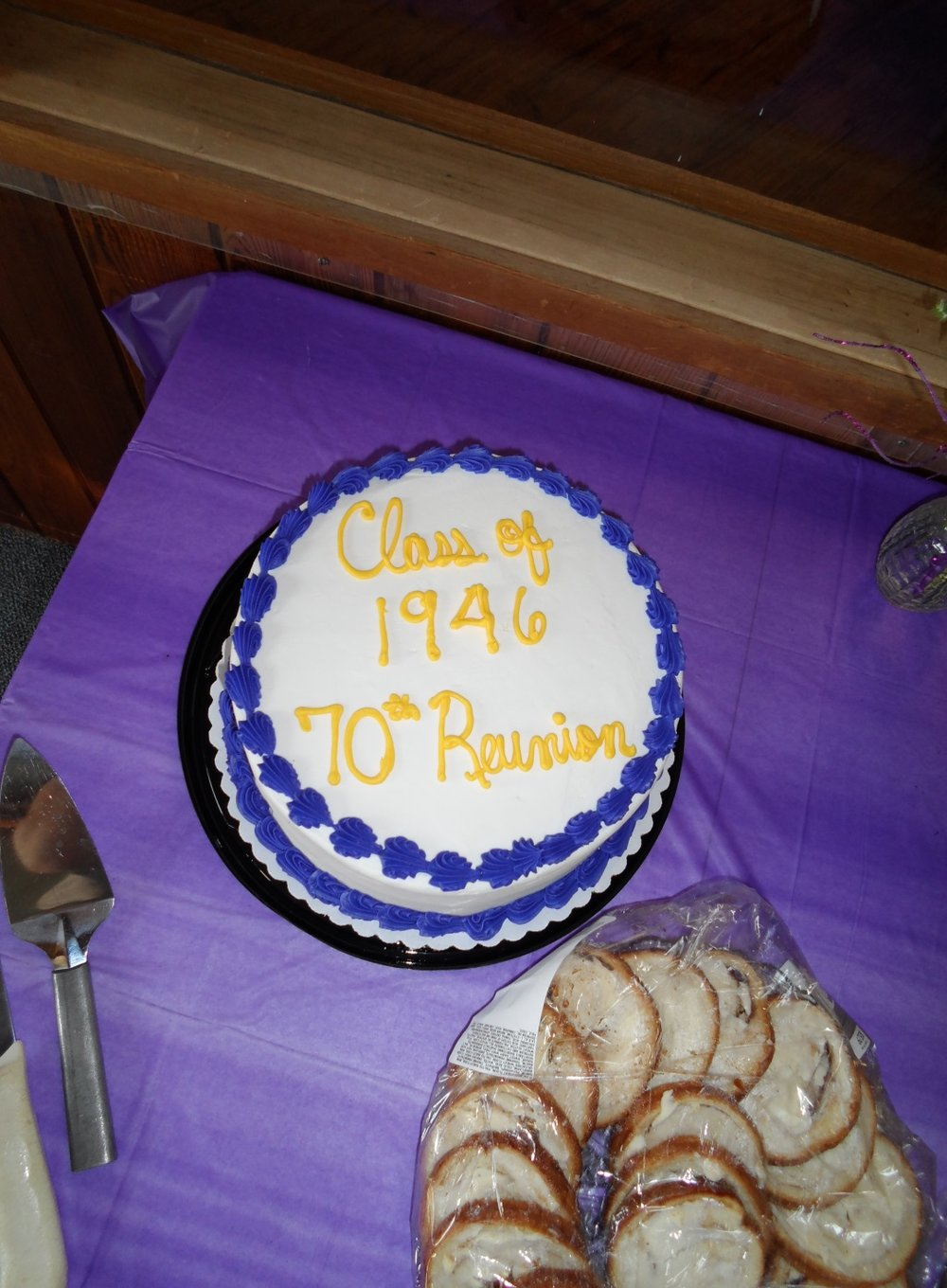 One of the cakes served for the class of 1946 70th reunion.