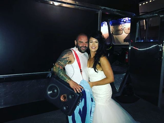 Because we're cool.... How else would you leave your wedding if it's not in a food truck with the Chef as your driver??? #whiskonwheels #whiskcatering #rengstorffhouse #marlyse&ben #leavingthewedding #grandexit #foodtruckwedding #foodtruckweddings