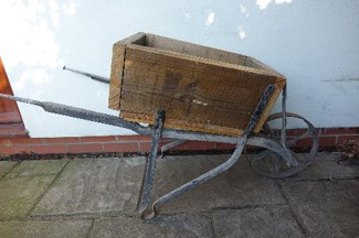 Small Wheelbarrow (X1) H: 65cm W: 19cm L: 125cm £10