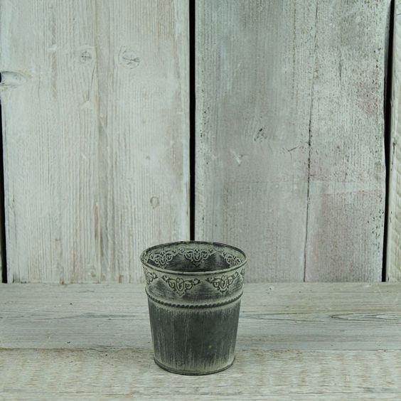 Embossed Zinc Pot £2 each