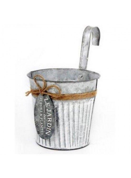 Zinc Pot with Hook £2 each
