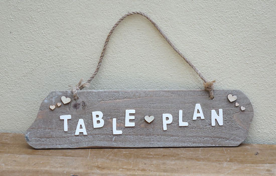 Table Plan (X1) 72cm x 46cm £2