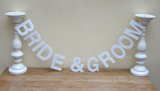 Bride and Groom Hanging Sign (X1) £2