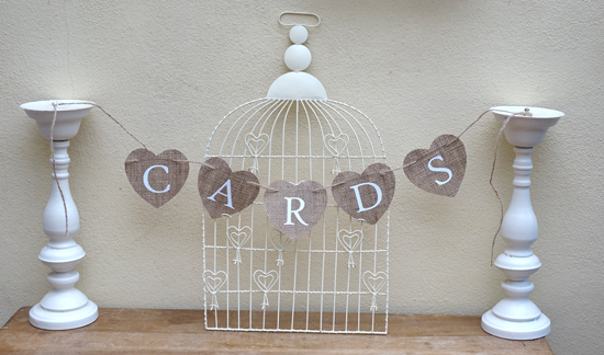 Hessian Card Sign (X1) £2