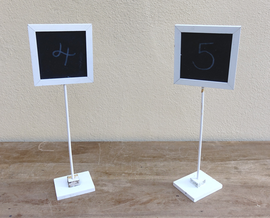 Table Number Boards (X10) £1