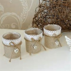 Hessian & Lace £1 each
