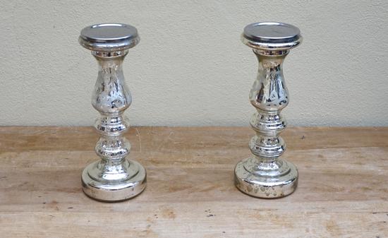 Mercury Tall Candlestick (X2) £4