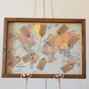 Vintage 1988 World Map (X1) £7