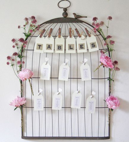 Birdcage Table Plan (2 Number)  90cm x 56cm £15 each