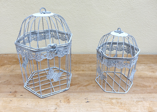 Birdcages 12 Number as 6 sets of 2 - £7.50 for 2
