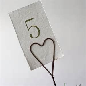Heart Metal Rustic Table Number (x12) £1.50
