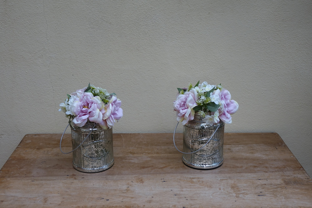 Large Circular Mercury Vase or Lantern (x2) £2