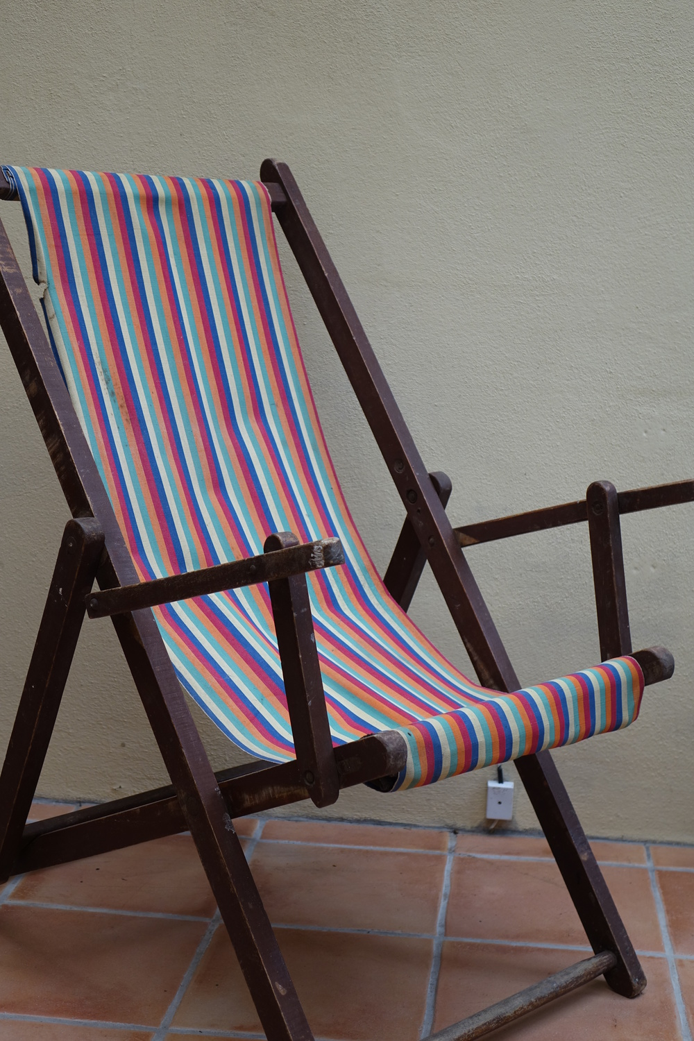 French Vintage Deckchair £5