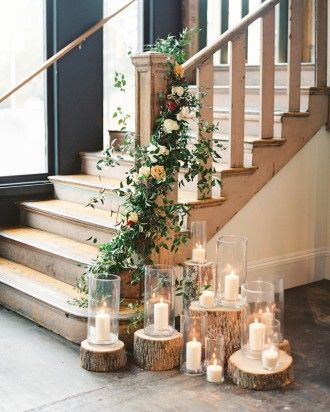 tree slice candles stair.jpg