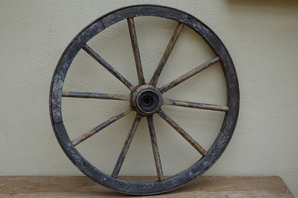 Vintage French Cart Wheel
