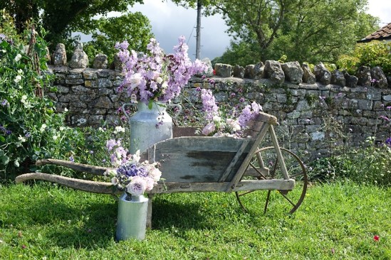 Vintage French Wheelbarrow