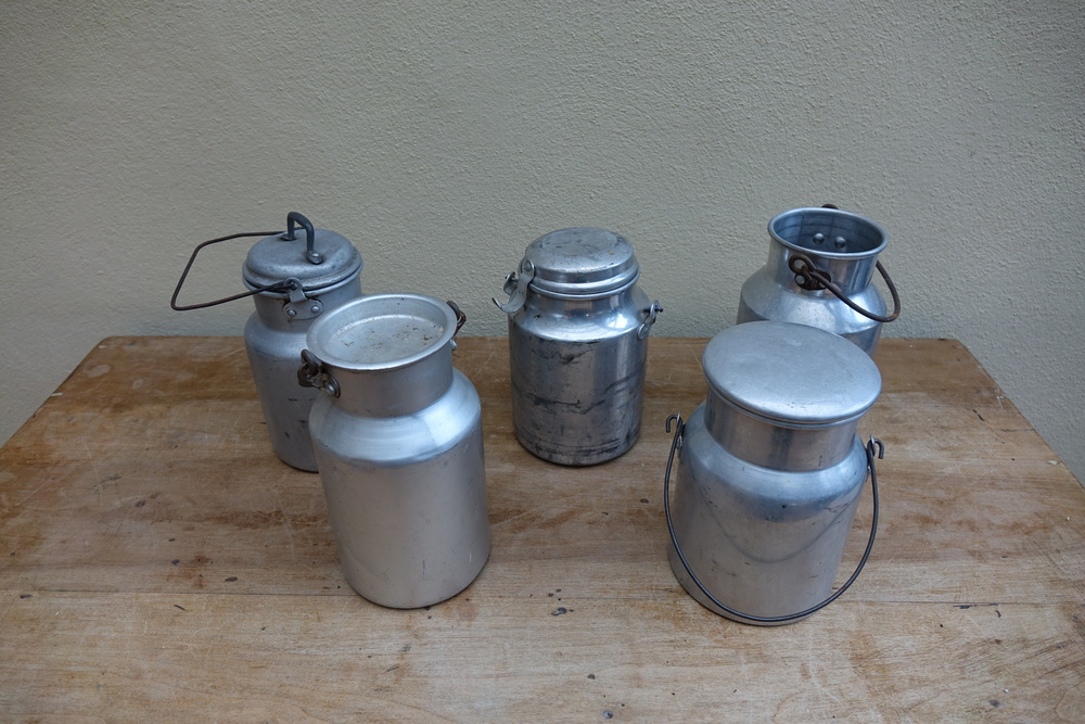 Vinatage French Small Milks Churns