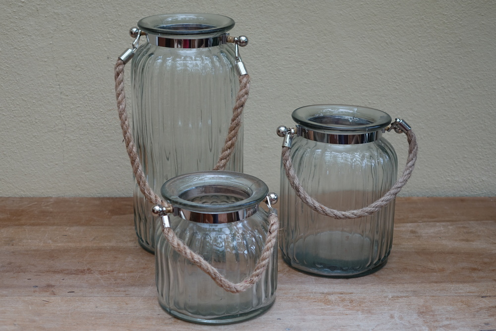 Ribbed Hurricane Lamps from £2