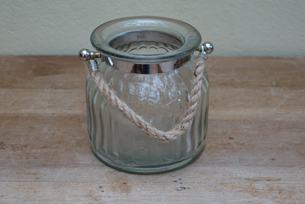 Small Ribbed Hurricane Lamp £2
