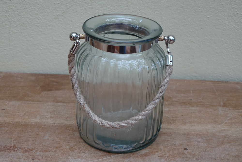 Medium Ribbed Glass Hurricane Lamps