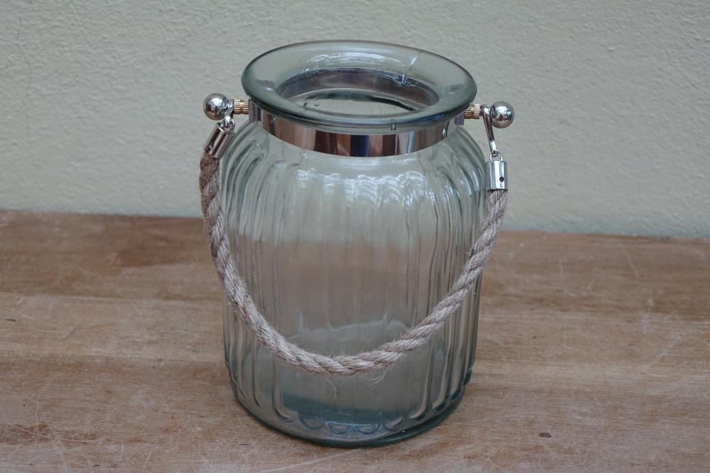 Medium Ribbed Glass Hurricane Lamps £3
