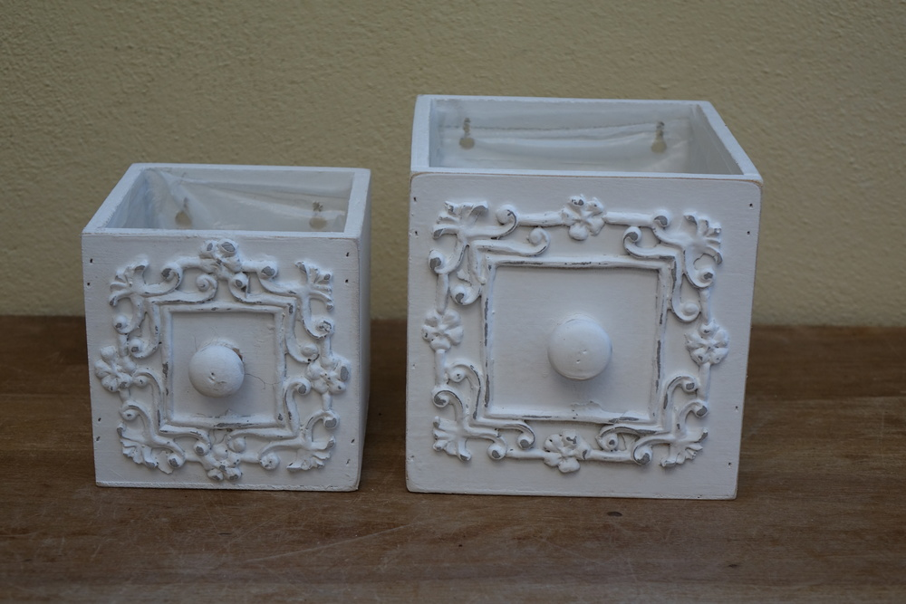 Pair Drawer Planters £3