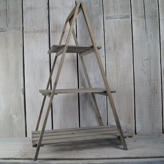 a frame display 15 - Wooden A Frame Ladder