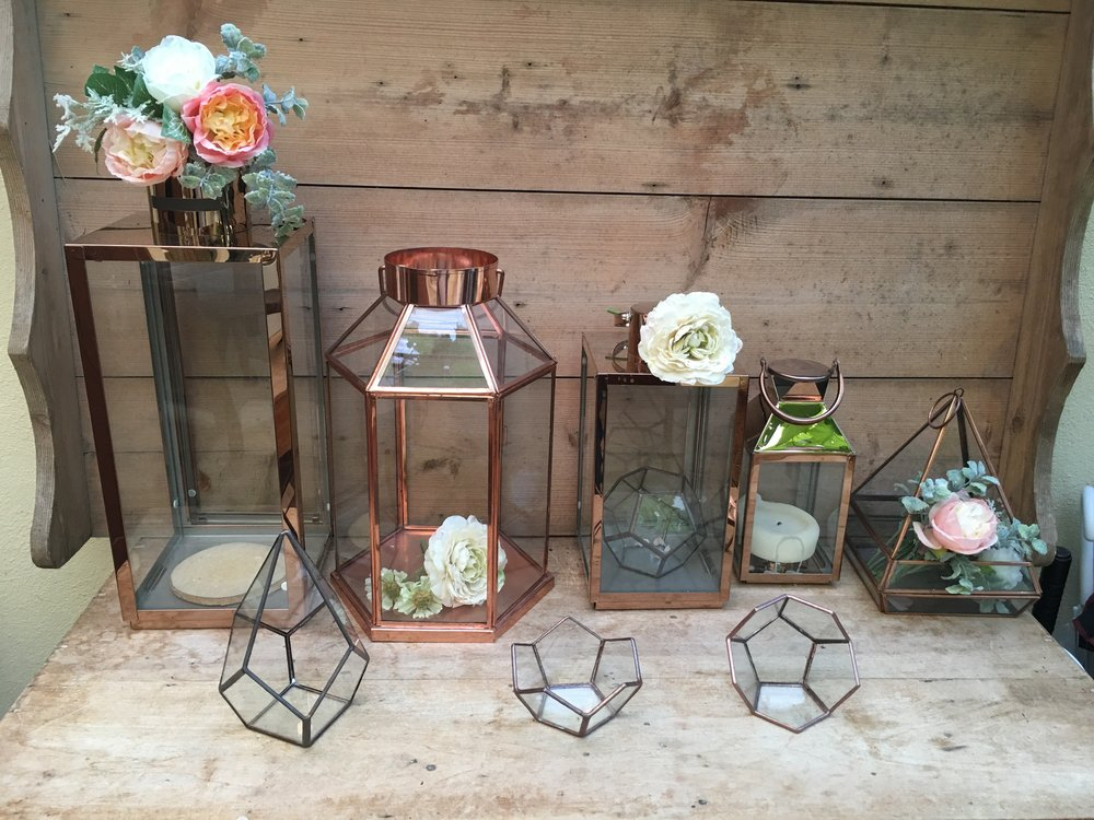 Copper Lanterns & Terrariums