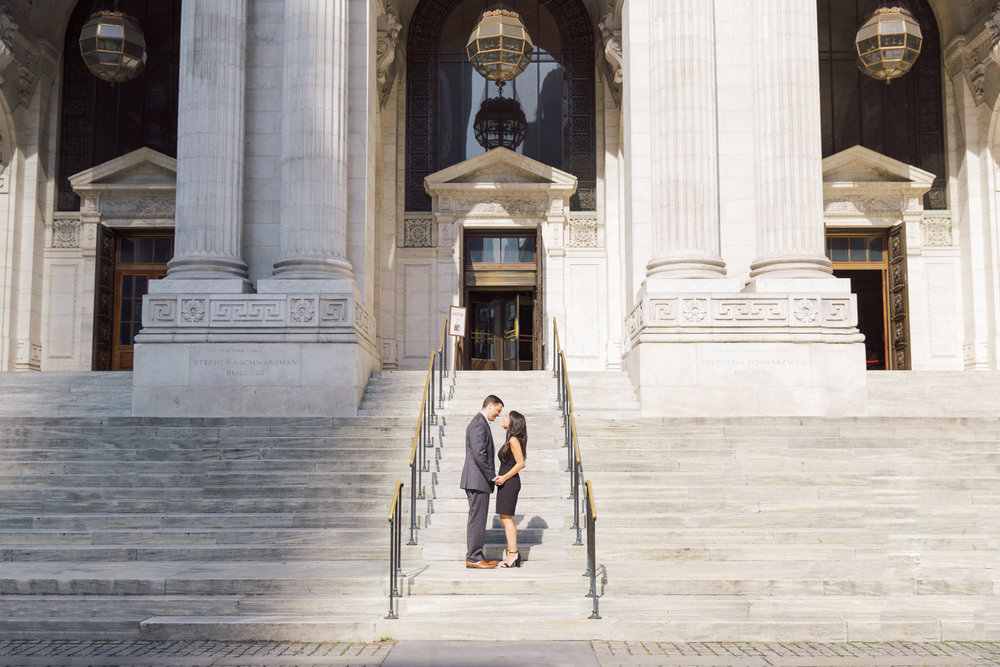 Engagement Photos on the Steps
