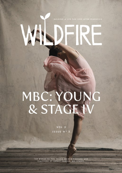 """MBC: YOUNG & STAGE IV - Vol 3, No. 4 October/November 2018Cover model: Maggie Kudirka aka """"The Bald Ballerina""""Live Like You're Dying by Rebecca Scheinkman 
