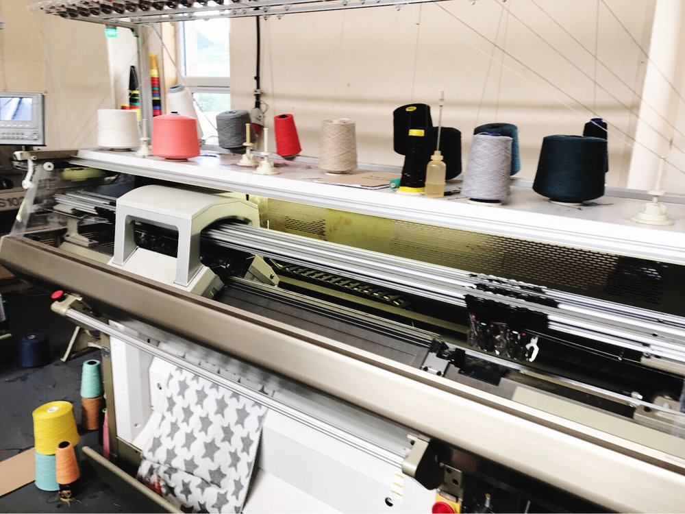 One of our Star Baby Blankets being knitted on the Shima Seiki knitting machine at our small family run factory in Scotland.Photo: David Brunton