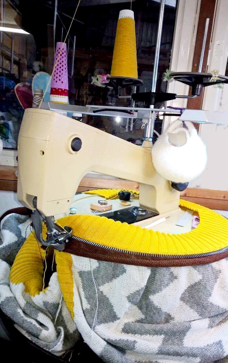 All our blanket trims are matched stitch to stitch and linked by hand.Photo: Sandra Williamson Textile Services