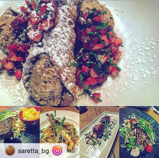 """Thanks @saretta_bg - our new dishes look great!・・・ """"Nuovo menù! Vi aspettiamo! 🚲🇮🇹🍝 #bicicletta #newacton #canberra #canby #italianfood #italian #foodlovers #foody #pasta #cannoli #nutella #involtini #polipo #ciao"""""""