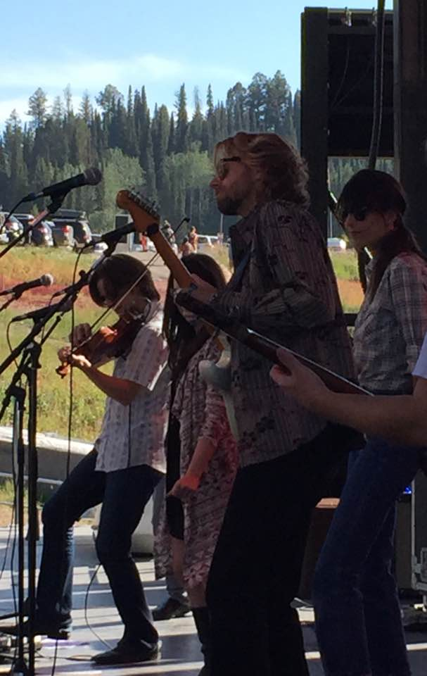Warren Hood on fiddle, ME!, Nicki Bluhm, and James Nash on Guitar!