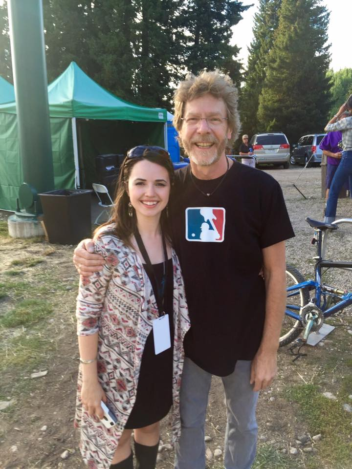 Post show with Sam Bush.  Awesome shirt Sam!