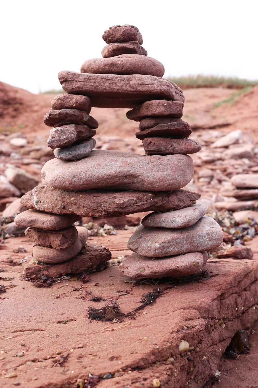 Red Rock Inukshuk @ Inukshuk Isle - North Cape, PEI